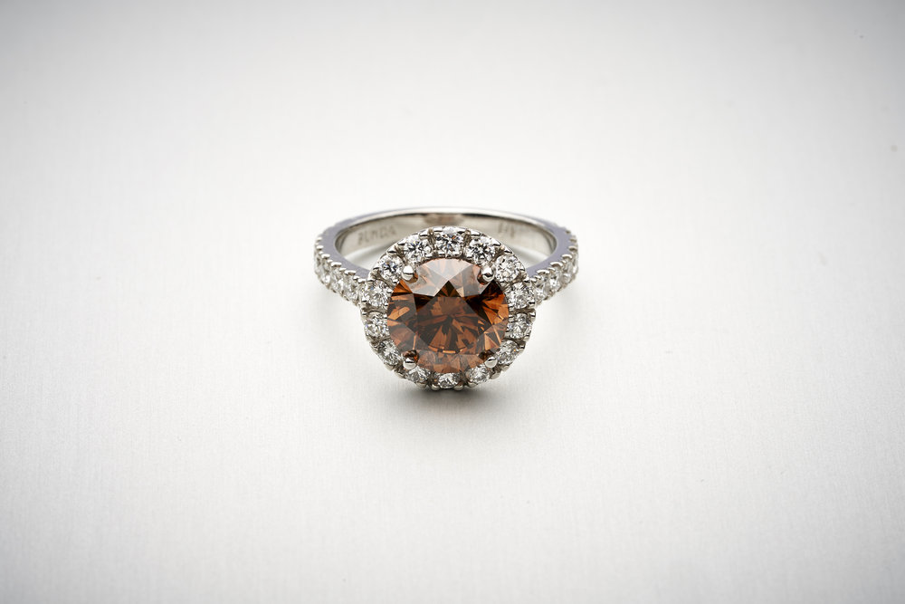 BUNDA 3.07ct AUSTRALIAN Cognac Diamond Ring