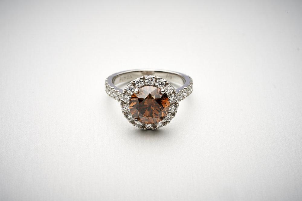 BUNDA 3.07ct AUSTRALIAN Cognac Diamond Ring
