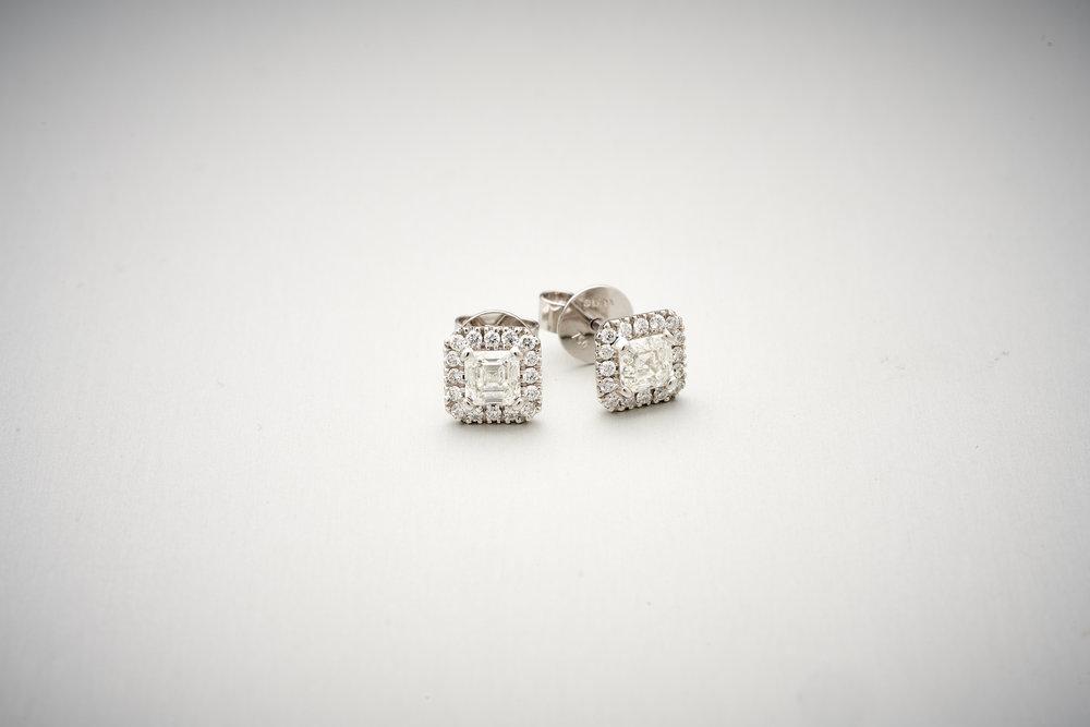 BUNDA Valentin ASSCHER CUT Diamond Earrings