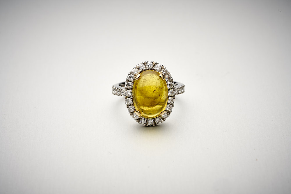 BUNDA Valentin Tourmaline & Diamond Ring