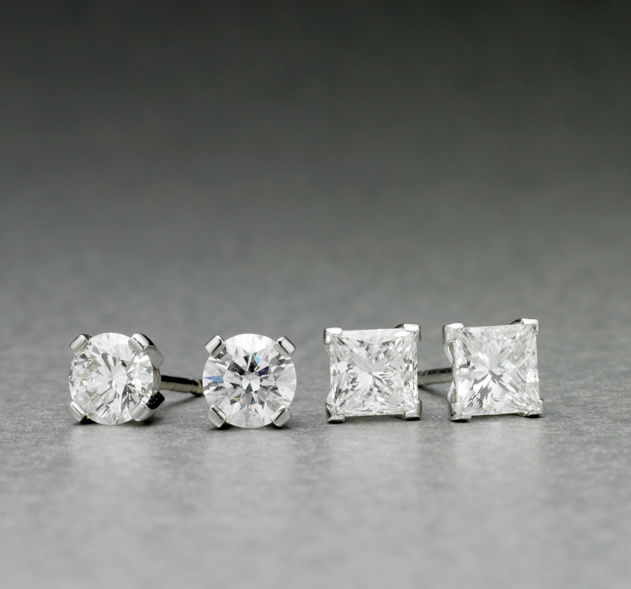 Classic Diamond Studs from $4,750
