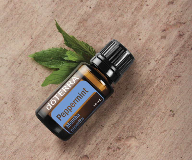 Peppermint - The high menthol content of the doTERRA Peppermint essential oil sets it apart from others when it comes to quality—making it one of the best-selling favorites among doTERRA essential oils.*Promotes healthy respiratory function and clear breathing*Add a drop or two to water, smoothies, a capsule, or even brownies to promote digestive health*Repels bugs naturally* Place one drop in palm of hand with one drop Wild Orange and one drop Frankincense and inhale for a mid-day pick-me-up.