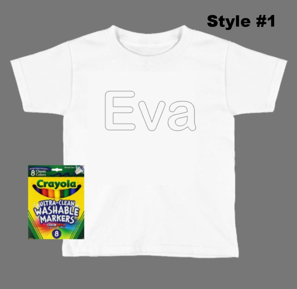8a0ae8790 Child's Coloring Shirt - Personalized — STARMAKER'S ATTIC