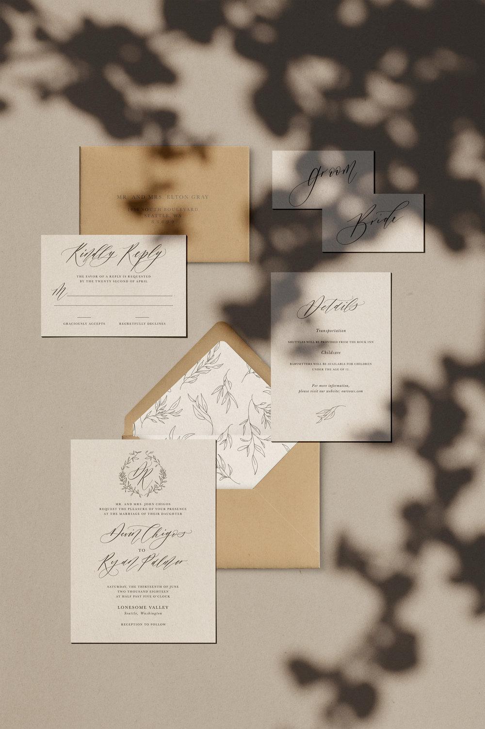 Hazel Semi-Custom Invitation Suite