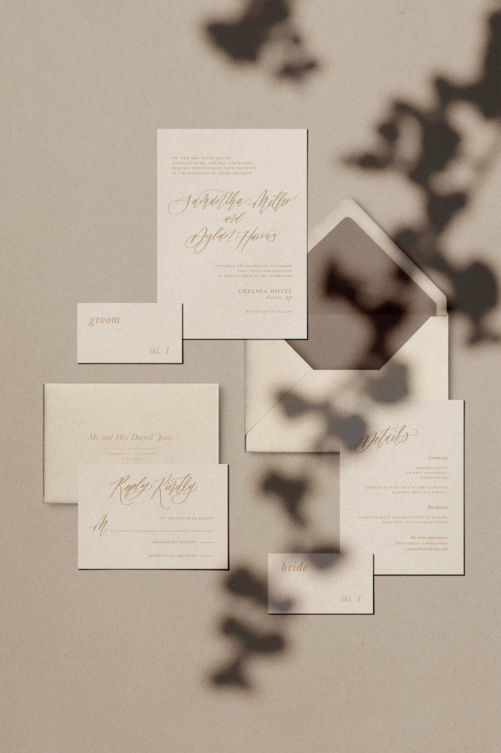 Willow semi-custom invitation suite