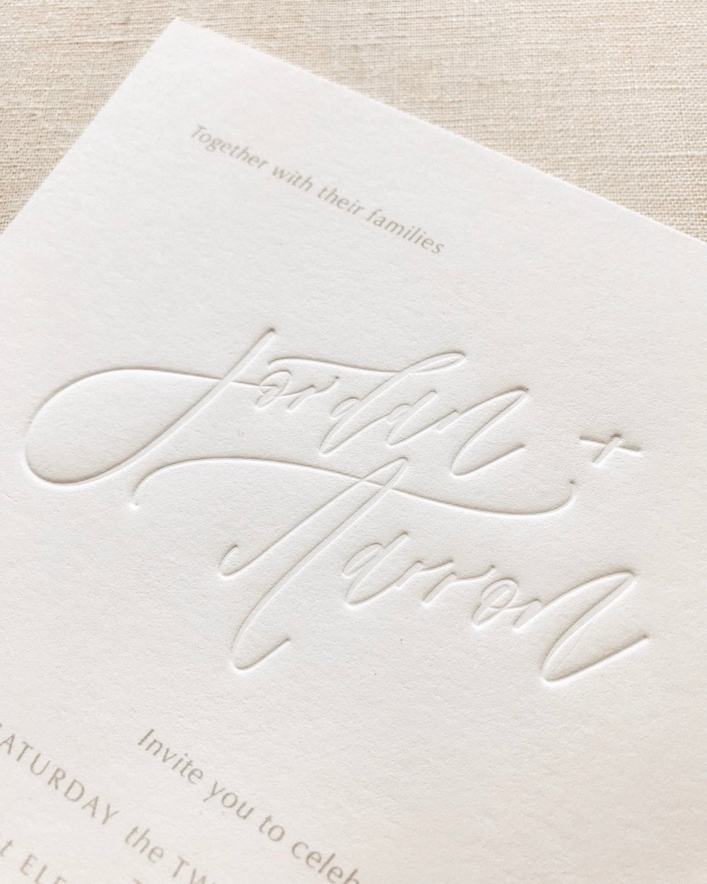 Custom Letterpress Wedding Stationery by Our Vows