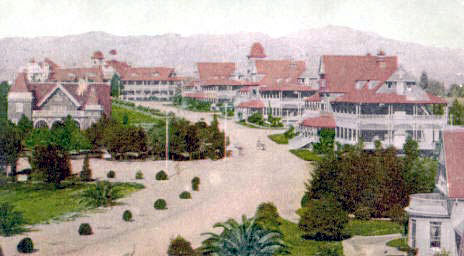 Early Hollywood as shown in this postcard of the period.