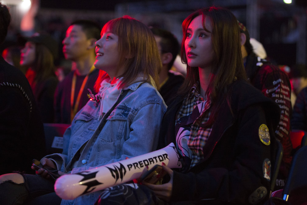 Fans watching gameplay while G2 looses to Invictus Gaming 3-0 in the semifinals of the League Of Legends Worlds Championship on October 27, 2018 at the Gwangju Women's University Universiade Gymnasium in Gwangju, South Korea. (Photo by Timo Verdeil / ESPAT Media)
