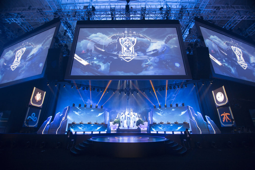 Worlds 2018 stage presentation at semifinals of the League Of Legends Worlds Championship on October 27, 2018 at the Gwangju Women's University Universiade Gymnasium in Gwangju, South Korea. (Photo by Timo Verdeil / ESPAT Media)