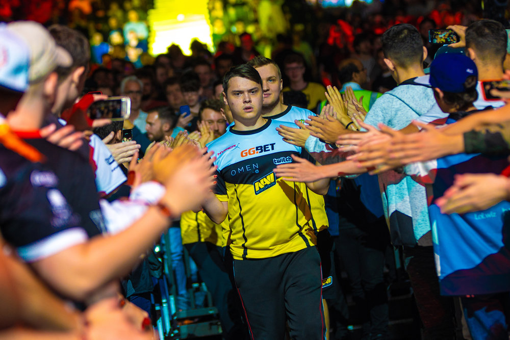 Denis 'electronic' Sharipov leading Na'Vi out against MiBR at The SSE Arena, Wembley on September 22, 2018 in London, England.   Photo by Kieran Gibbs / ESPAT Media