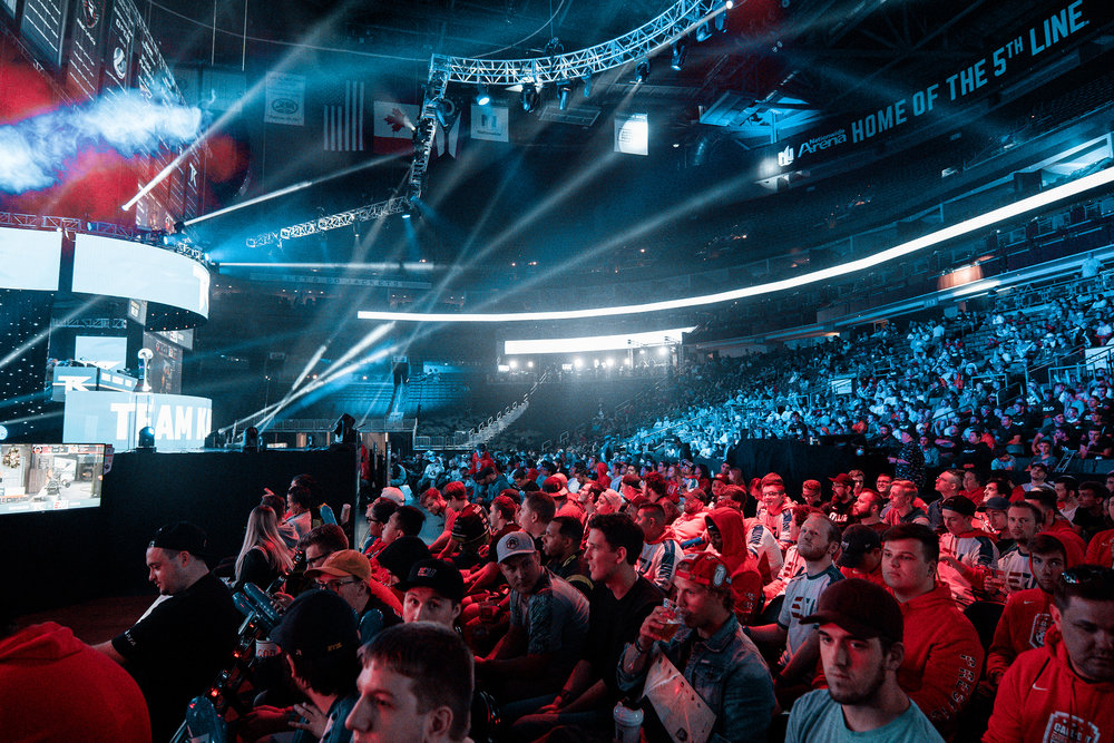 Crowd enjoying the action at 2018 Call of Duty World League Championship at Nationwide Arena on August 18, 2018 in Columbus, Ohio.  Photo by Eric Ananmalay / ESPAT Media