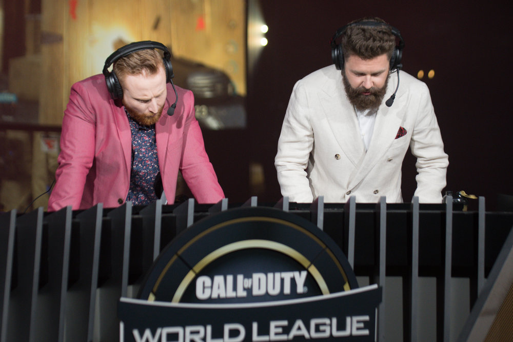Casters giving play-by-play at 2018 Call of Duty World League Championship at Nationwide Arena on August 19, 2018 in Columbus, Ohio.  Photo by Eric Ananmalay / ESPAT Media