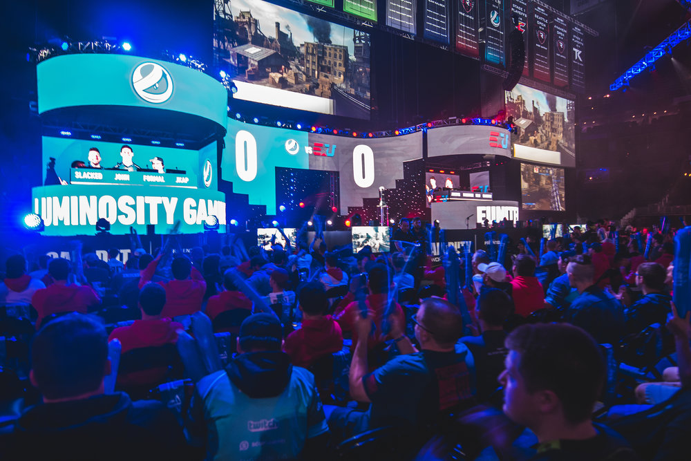 Luminosity Gaming and Eunited facing off at 2018 Call of Duty World League Championship at Nationwide Arena on August 19, 2018 in Columbus, Ohio.  Photo by Eric Ananmalay / ESPAT Media