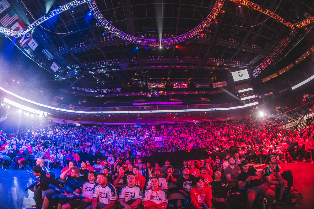 Columbus crowd came out in full force to support the 2018 Call of Duty World League Championship at Nationwide Arena on August 19, 2018 in Columbus, Ohio.  Photo by Eric Ananmalay / ESPAT Media