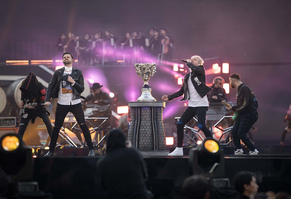 Stage music performance at the 2018 League of Legends World Championship sponsored by Mastercard on November 3, 2018 in Incheon, South Korea.  Photo by Hannah Smith/ESPAT Media for Mastercard
