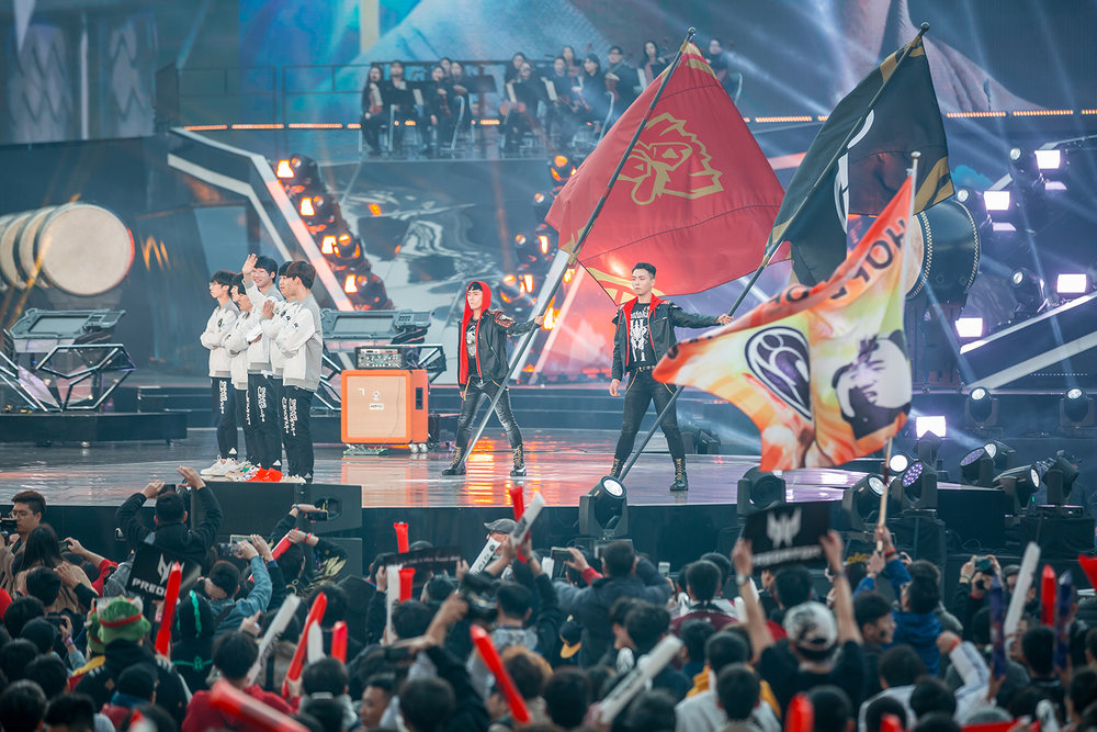 Music performance at the 2018 League of Legends World Championship sponsored by Mastercard on November 3, 2018 in Incheon, South Korea.  Photo by Hannah Smith/ESPAT Media for Mastercard