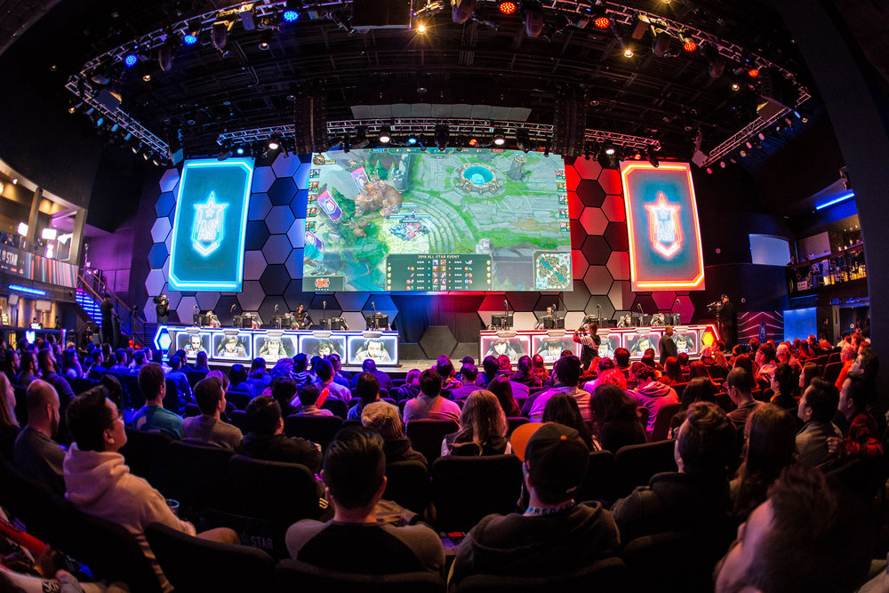 General view of crowd and stage at League of Legends All-Star Event on December 8, 2018 in Las Vegas, Nevada.  Photo by Hannah Smith/ESPAT Media for Mastercard
