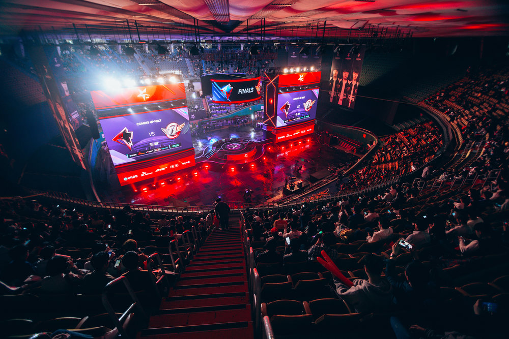 SEOUL, SOUTH KOREA - APRIL 13: Audience getting ready to watch SK Telecom T1 (wins 3-0 over) vs Griffin at LCK Spring Finals at Jamsil Sports Center on April 13, 2019 in Seoul, Korea. Photo by Timo Verdeil/ESPAT Media