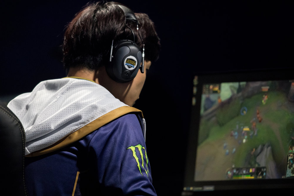 ST LOUIS, MO - APRIL 13: Player from Team Liquid battling with Team SoloMid at LCS Spring Finals at Chaifetz Arena on April 13, 2019 in St Louis, Missouri. Photo by David Doran/ESPAT Media