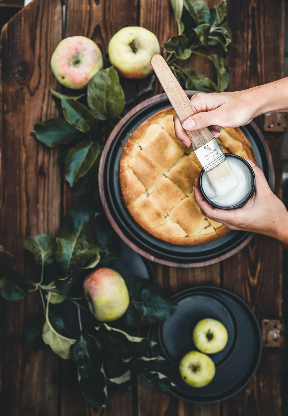 Apfelkuchen Zuckerguss
