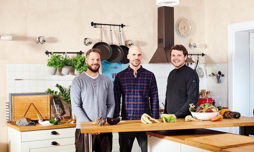 """Carsten Wille, Georg Lindermair und Christopher Hallhuber gründeten 2014 das Start-up """"etepetete"""".  Foto:  etepetete"""