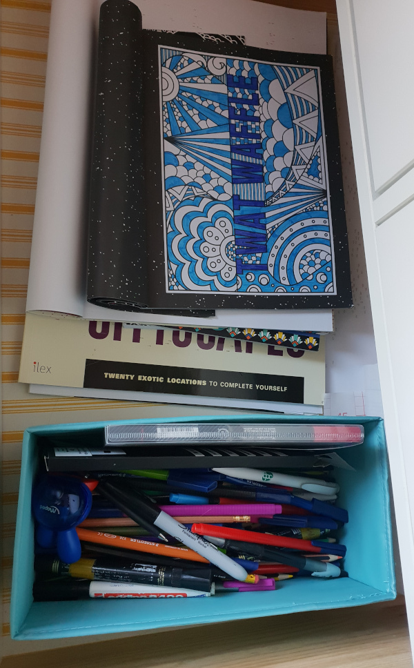 I've even now got a whole drawer for colouring-in supplies