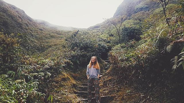 take me back to the tropics . . . #montagnepelee#adventure#volcano#hiking#wearing#camouflage#floral#pants