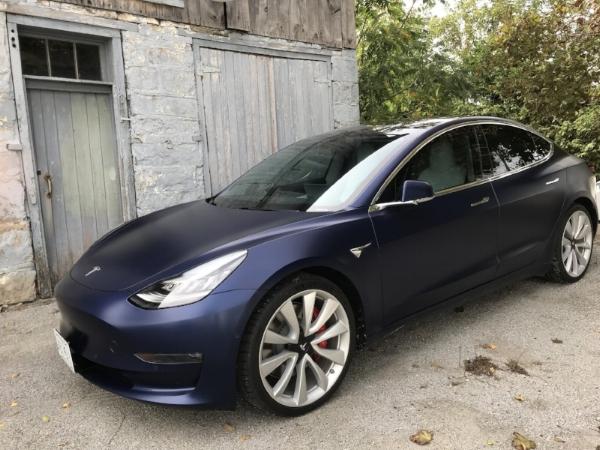 "20"" Sport wheels on  Performance Model 3"