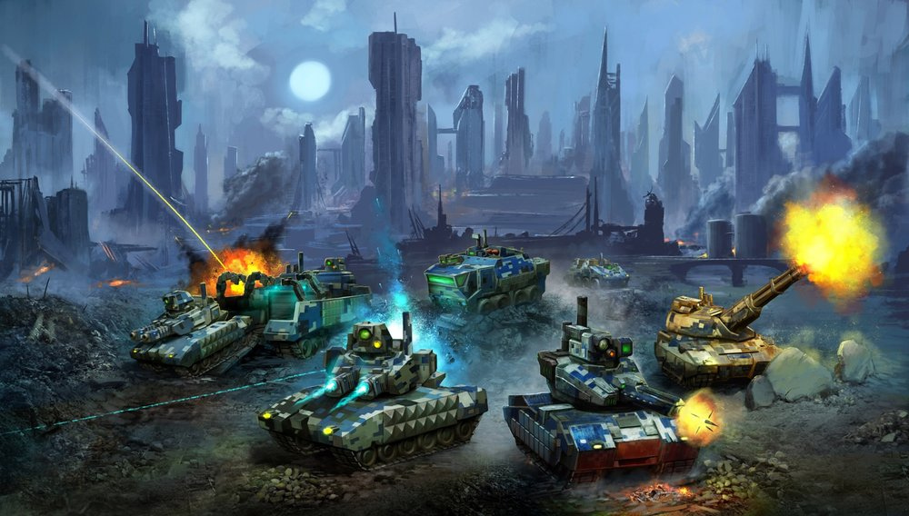 Box art by Dominik Kasprzycki featuring my tanks