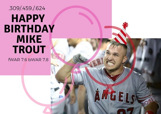 Happy birthday to the one and only Mike Trout!