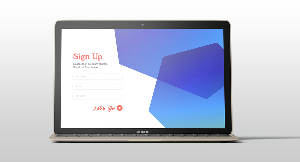 001 — Sign Up Page