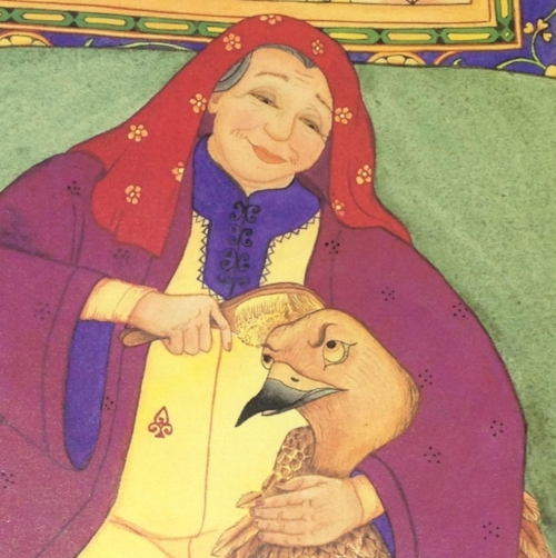 Illustration by Natasha Delmar, from the book The Old Woman and the eagle by Idres Shah