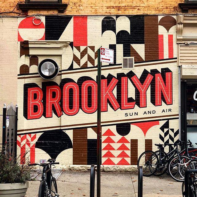This is Brooklyn. . . . #brooklyn #williamsburg #streetart #newyork #nyc #nycstreets #nycstreetart #urbanart #bklyn #brooklynsunandair #street #bricks #colorful