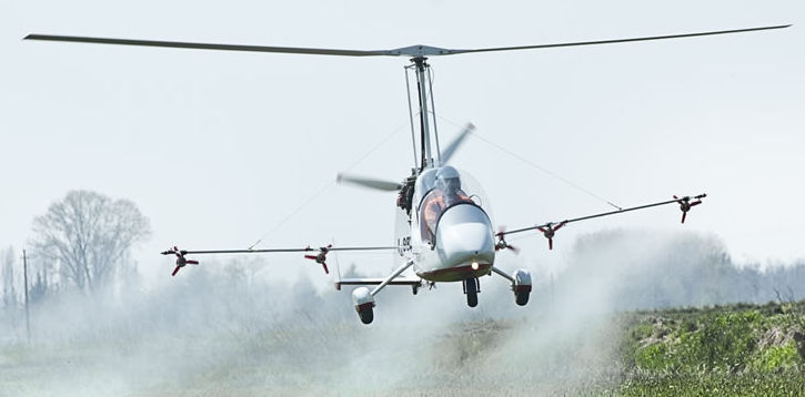 Magni M16 Agri Fumigacion  Standard Equipment  WEIGHT Empty weight264 / 266kg Maximum take-off weight450 / 500kg    PERFORMANCES  Maximum speed185km/h Cruising speed150km/h Absolute ceiling13,000ft Service ceiling11,500ft Take-off distance250ft Landing distance0 - 100ft Rate of climb5m/s Tank capacity75lt   DIMENSIONS  Rotor diameter8230/8535 Propeller diameter1700 Width1800 Length4700 Height2700  ENGINE The M16 Tandem Trainer can be powered by Rotax 912 ULS - 100HP (featuring slipping clutch, air box, carburettor heat and its relative electric instrument in the cockpit) or Rotax 914 - 115HP turbocharged (coming with fuel pressure indicator