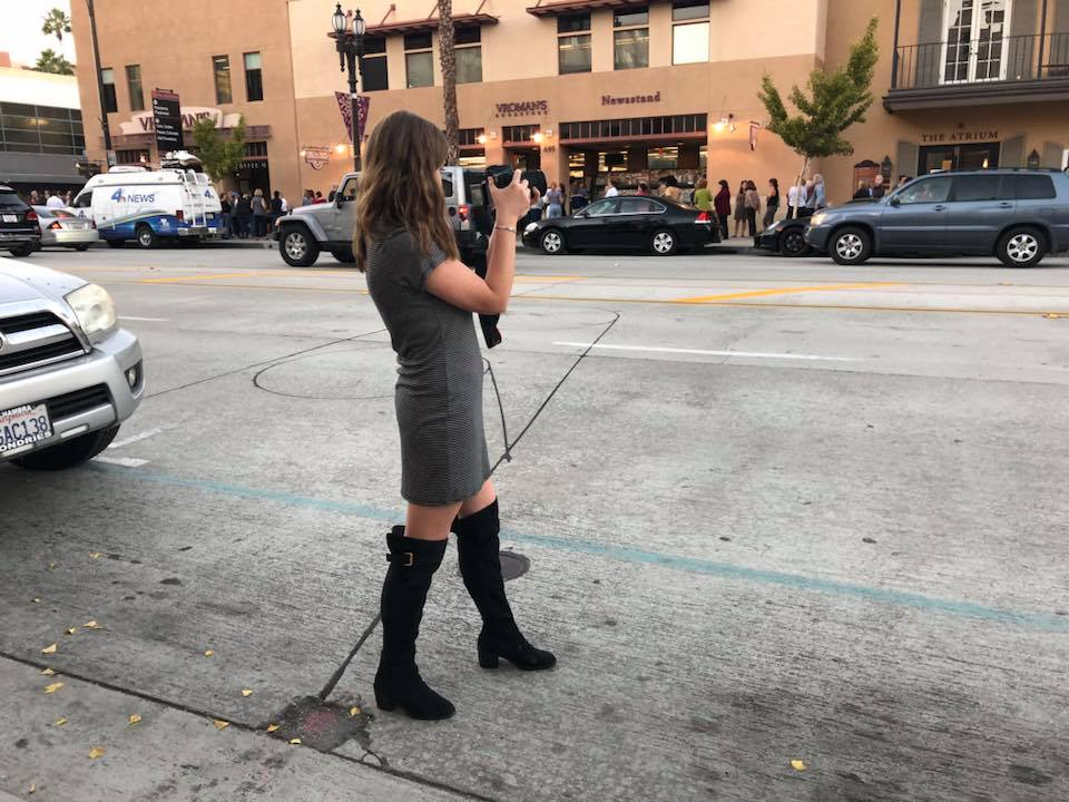 "Filming ""To All The Little Girls"" in Pasadena, November 2017"