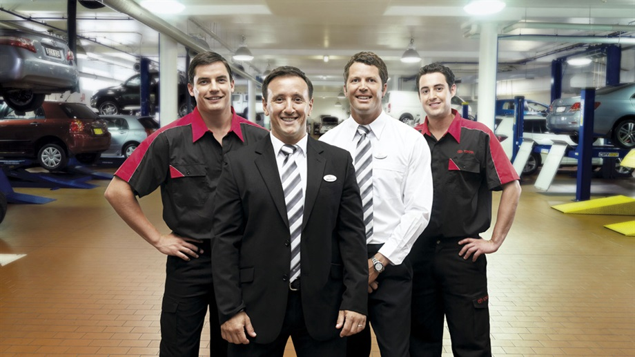 Jacob Toyota sales and service team.