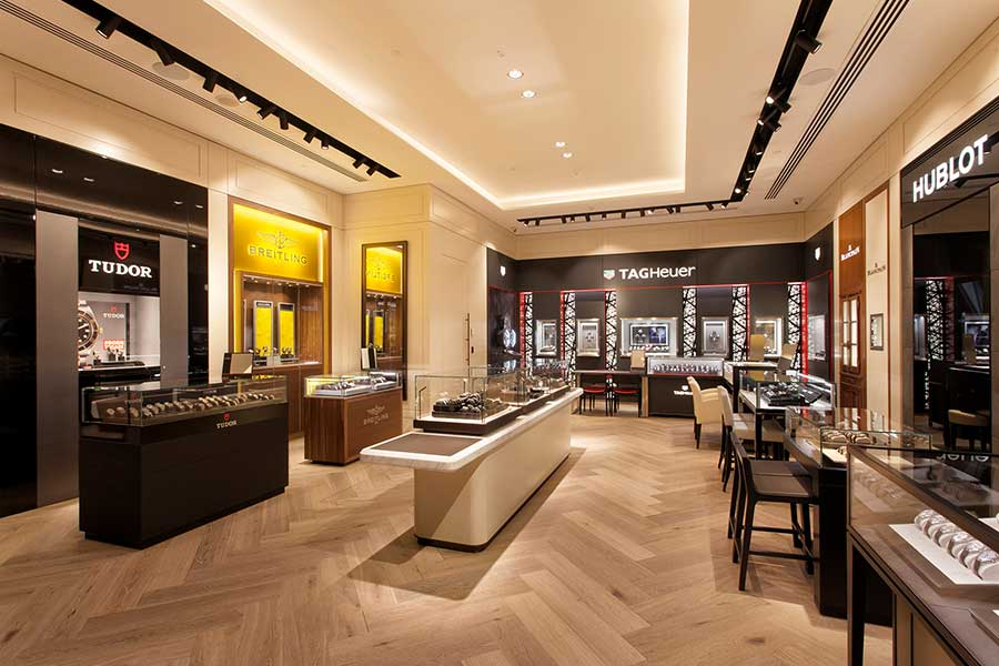 Watches of Switzerland Collins Street store located in the heart of Melbourne.