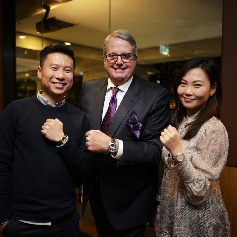 Eric Van De Griend and friends at a private dinner with Brequet & Blancpain.