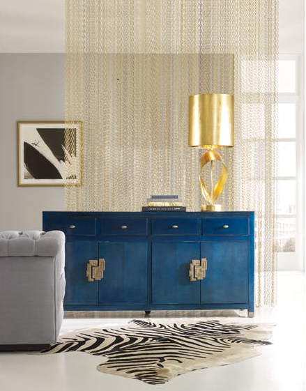 Here's one of their stunning pieces - the Curiosity Credenza fits well in a dining room, entry or living space. That blue! (It's a hint of what you'll see in our latest post.)