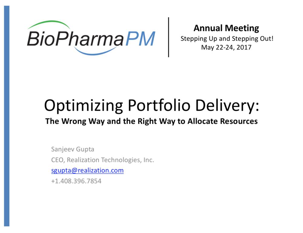 Sanjeev Gupta    Realization Technologies, Inc.
