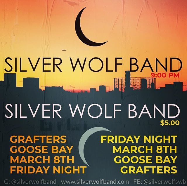 We're playing Grafter's March 8th! #labradorfolkrock #fridaynight