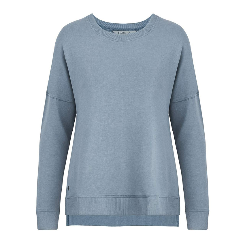 Riverwalk II Sweatshirt  Bamboo french terry fabrication. Wide crew neck, drop tail with side splits for great layerabilty. Provides superior comfort & performance. Wear as is, layer up, wear anywhere.