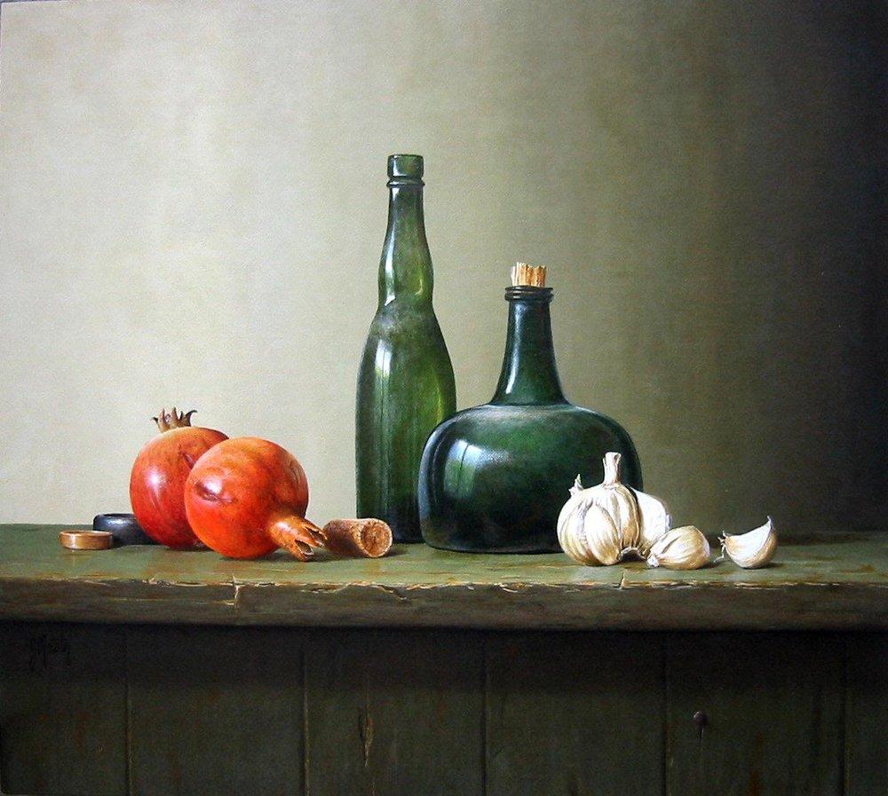 Pomegranates with Garlic