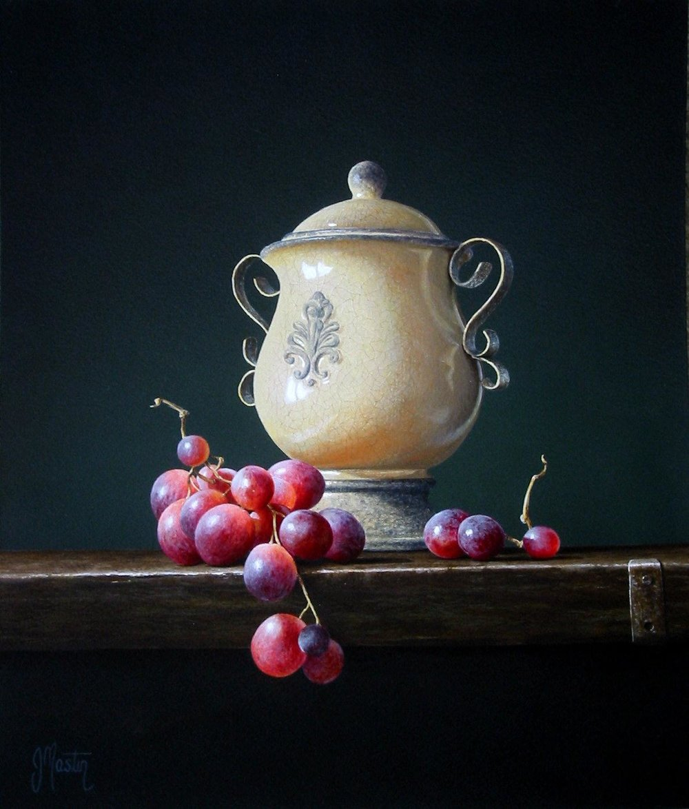 An Urn with Grapes