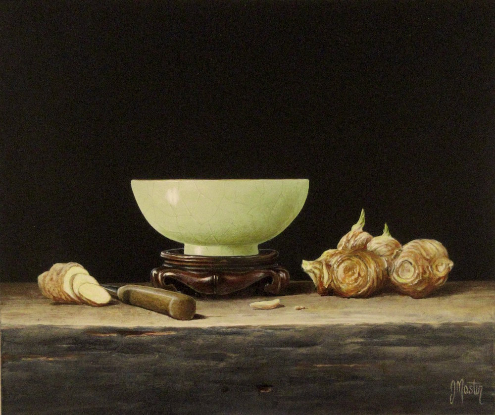 Celadon Bowl with Ginger