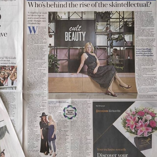 Thank you @elizabday @telegraph for championing @alexia.inge, what an interview!🌟 @cultbeauty #cultbeautyis10