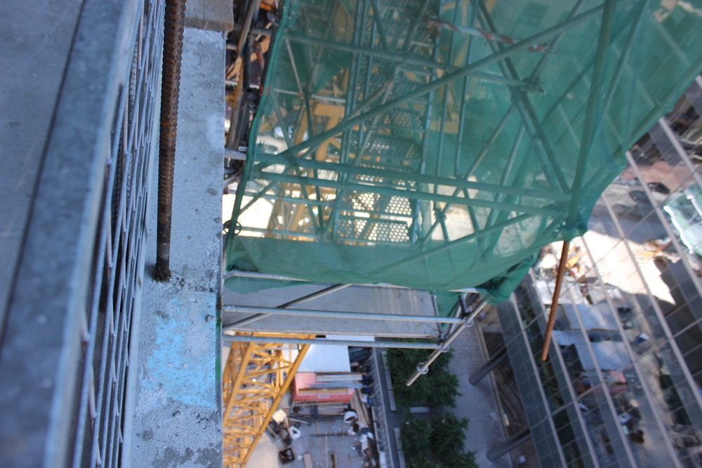 Suspended stair tower