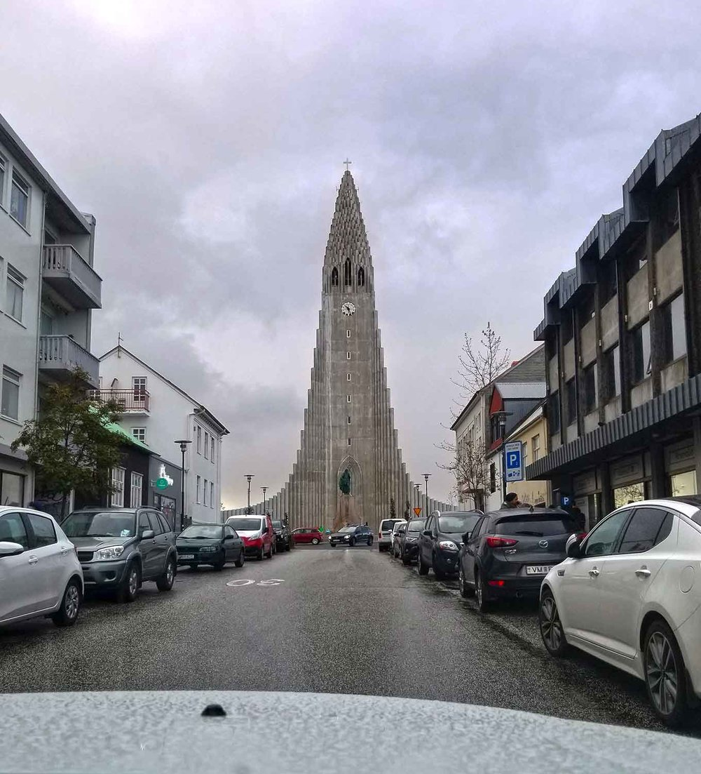 Hallgrímskirkja is a Lutheran parish church in Reykjavík, Iceland. At 244 feet high, it is the largest church in Iceland and among the tallest structures in the country.