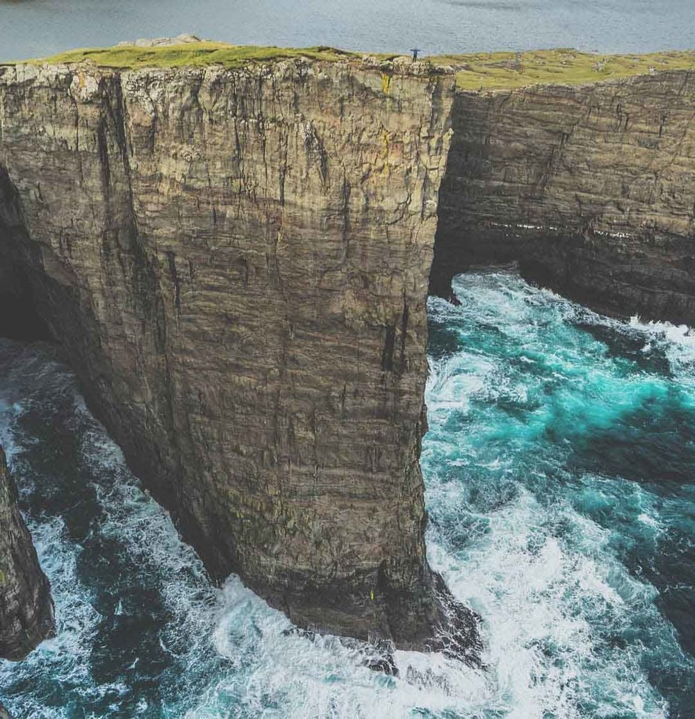 This is not my photo - included for size reference of these cliffs (and I could not find an actual photographer to credit). They are  massive .