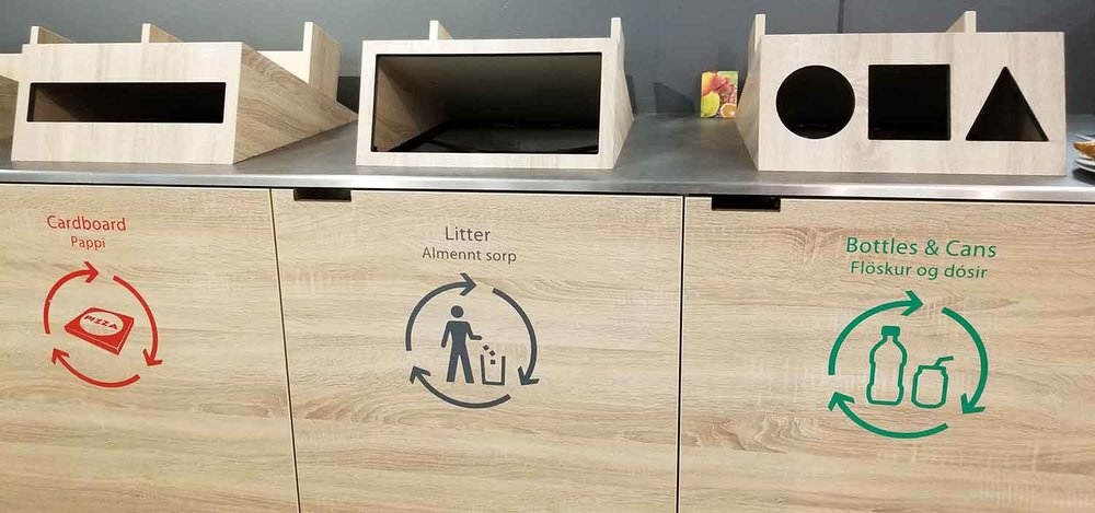Love the recycling system at the airport!